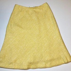 Escada Yellow tweed skirt SZ 36